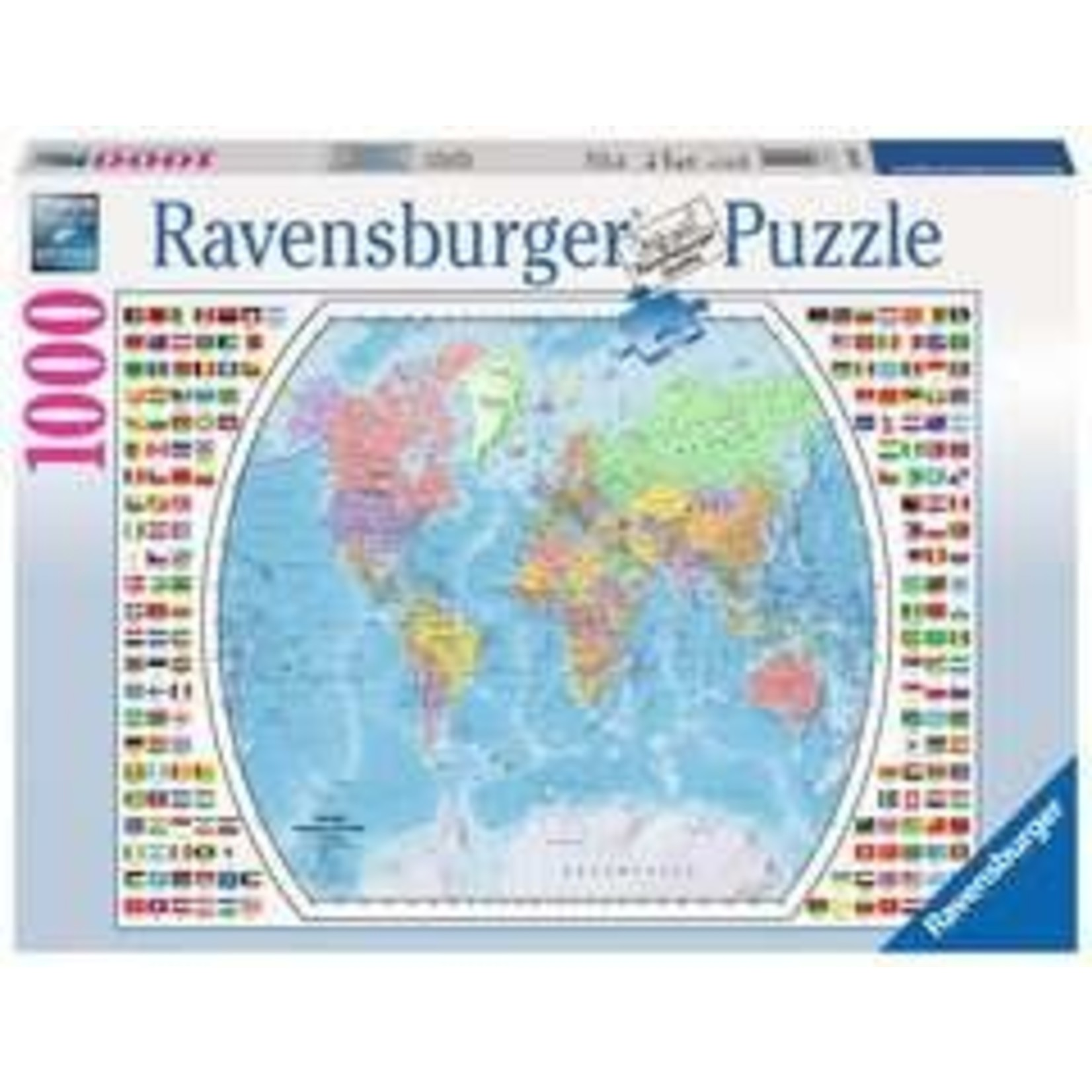Ravensburger Political World Map - 1000 Piece Jigsaw Puzzle