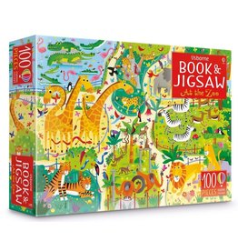 Usborne Book & Jigsaw Zoo 100p