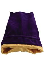 Metallic Dice Games Dice Bag 6x8 Velvet/Satin Purple with gold