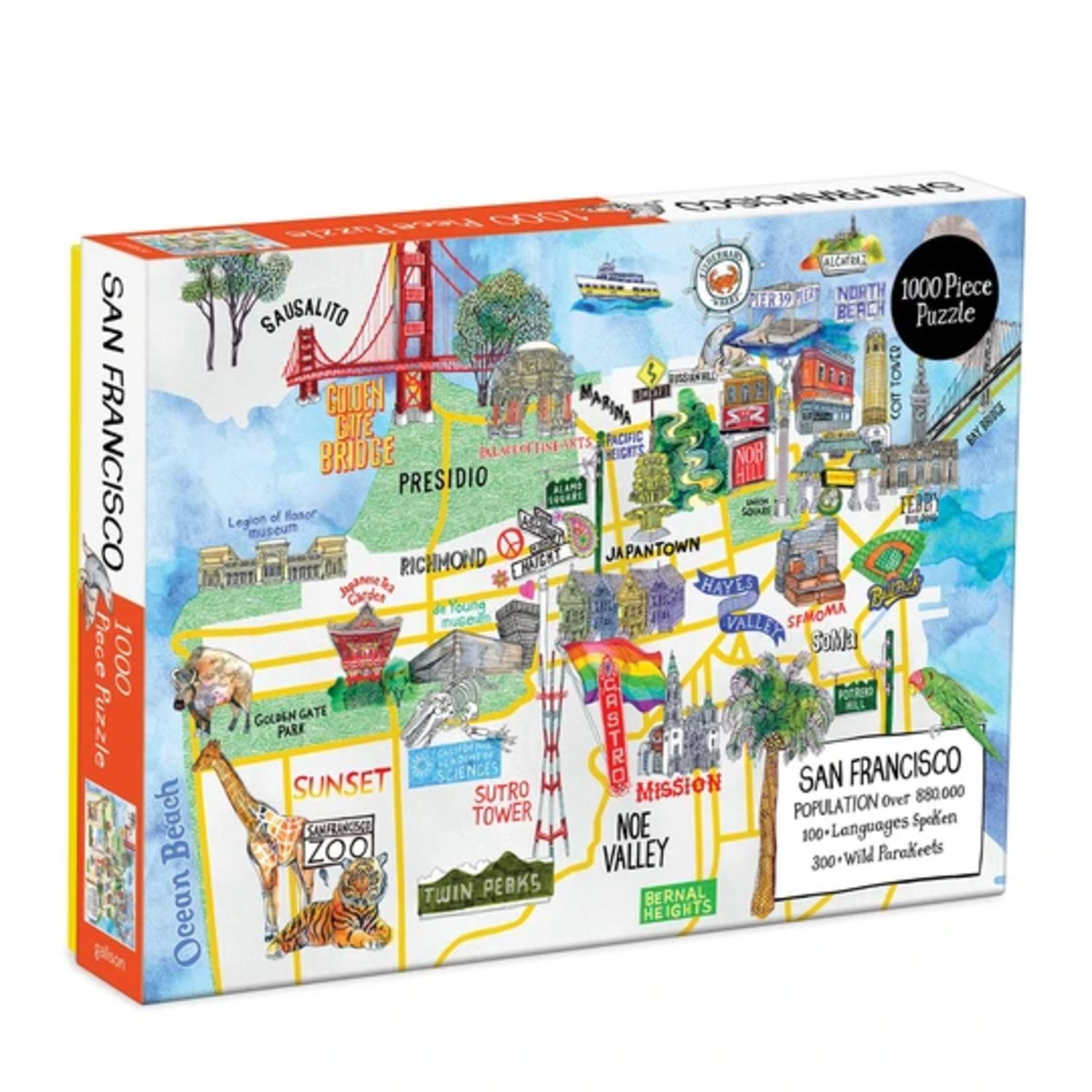 Galison Hennie Haworth San Francisco - 1000 Piece Jigsaw Puzzle