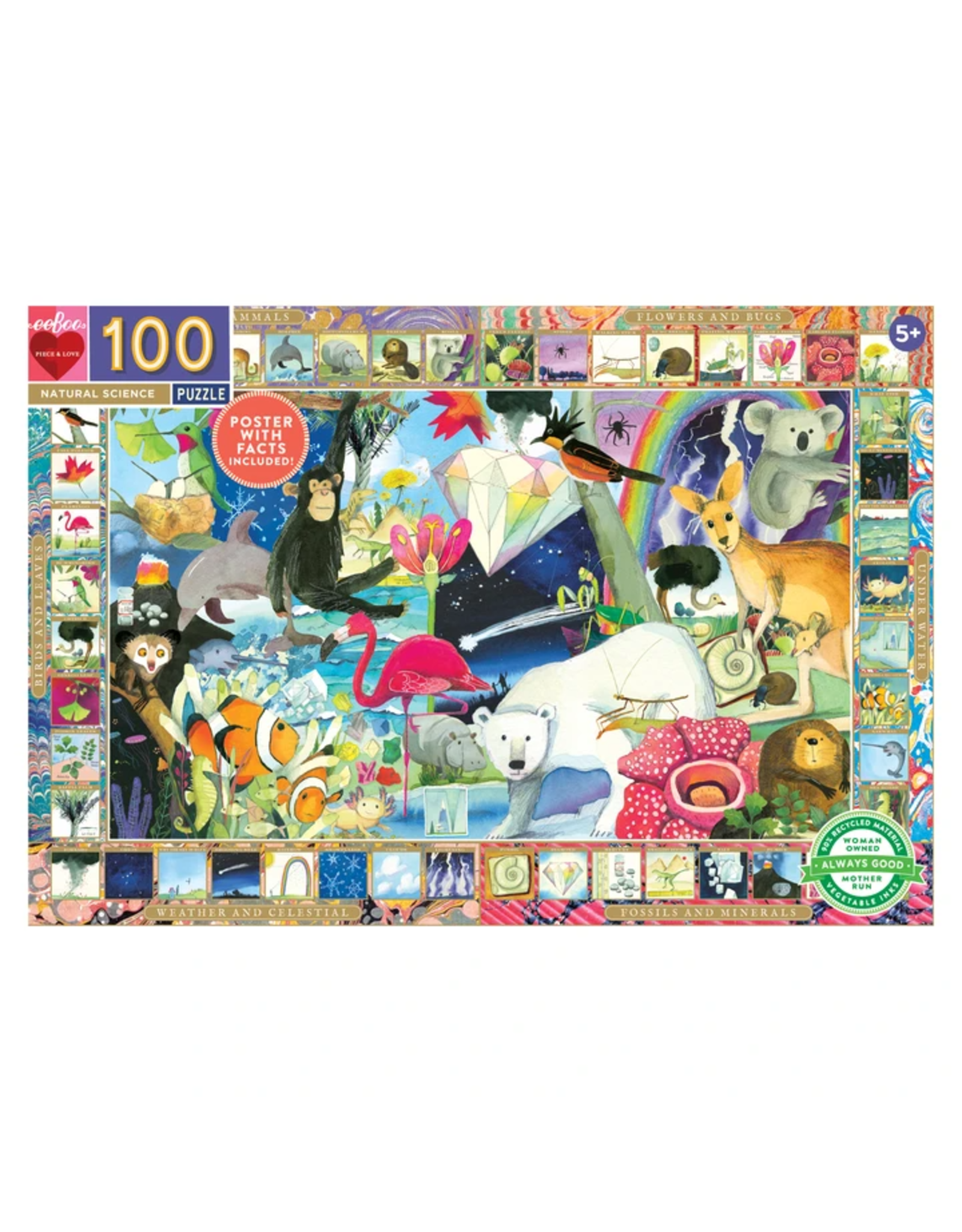 Eeboo Natural Science  - 100 Piece Jigsaw Puzzle