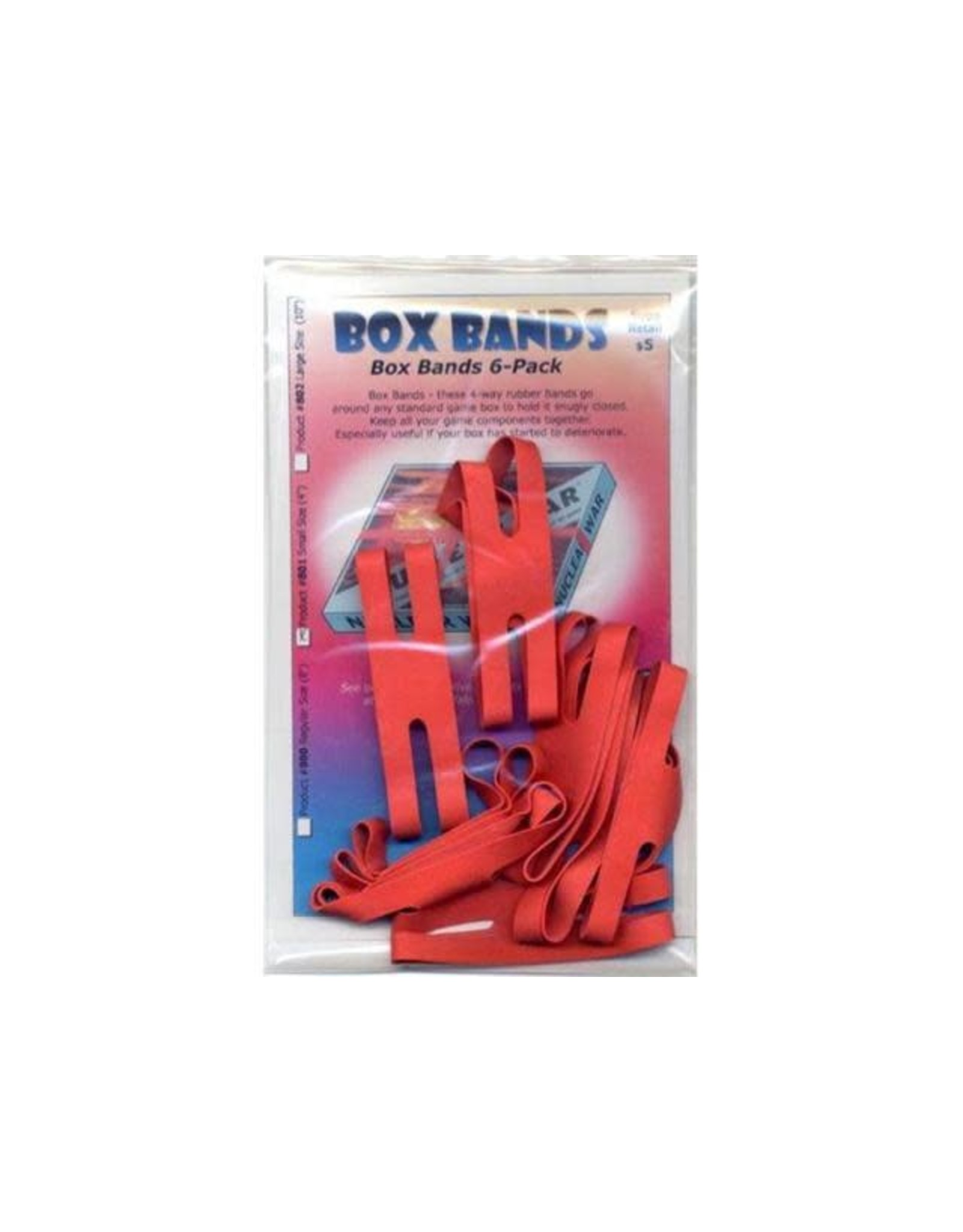 "Box Bands 4"" Red"