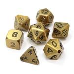Die Hard Dice 7-Set Dice: Forge Battleworn Gold
