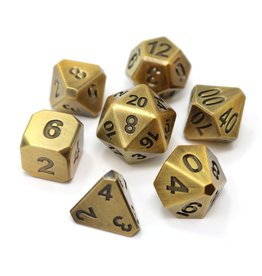 Die Hard Dice Die Hard Dice 7-Set Forge Battleworn Gold
