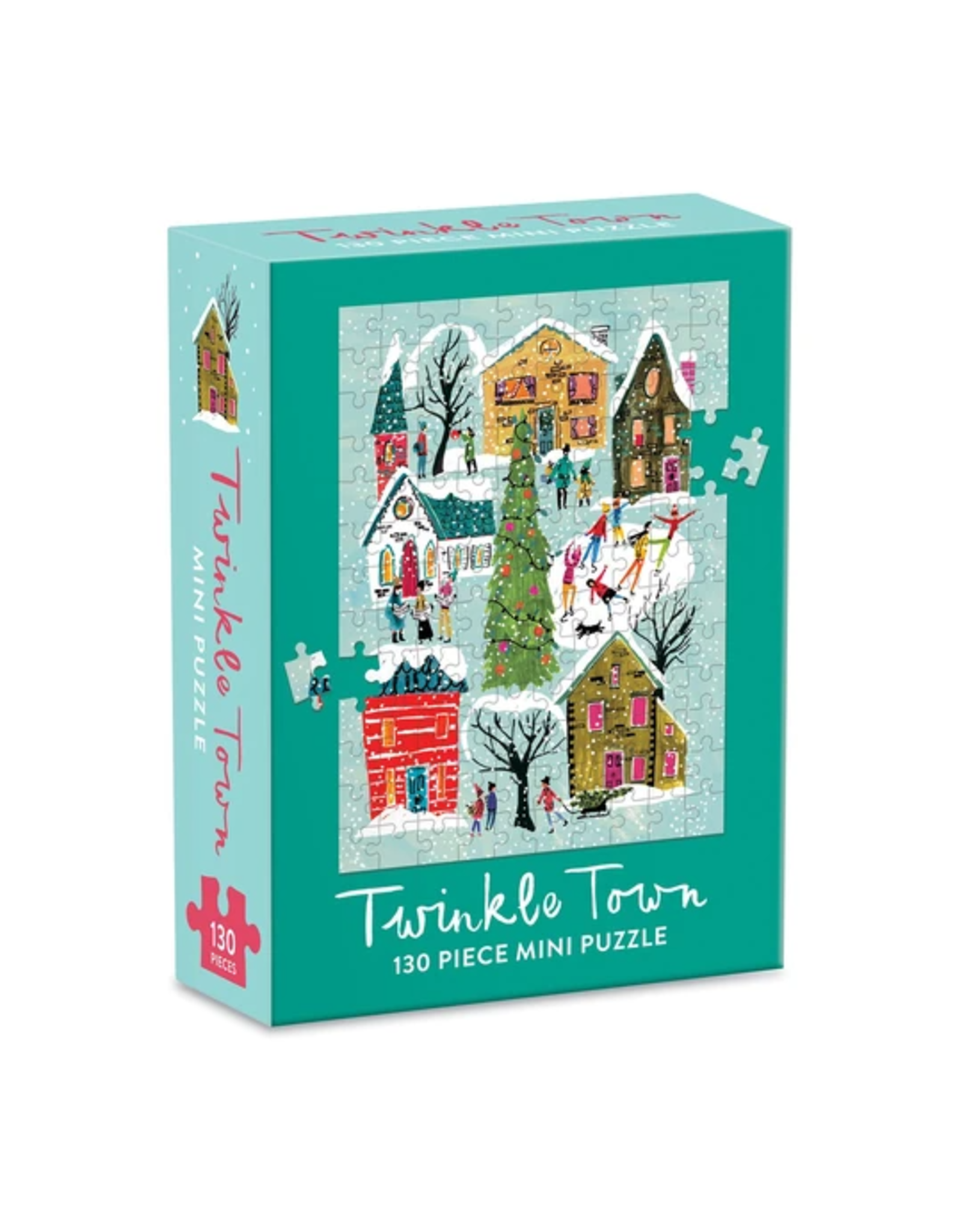 Galison Twinkle Town by Louise Cunningham Mini Puzzle 130p
