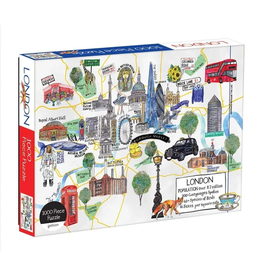 Galison London Map - 1000 Piece Jigsaw Puzzle