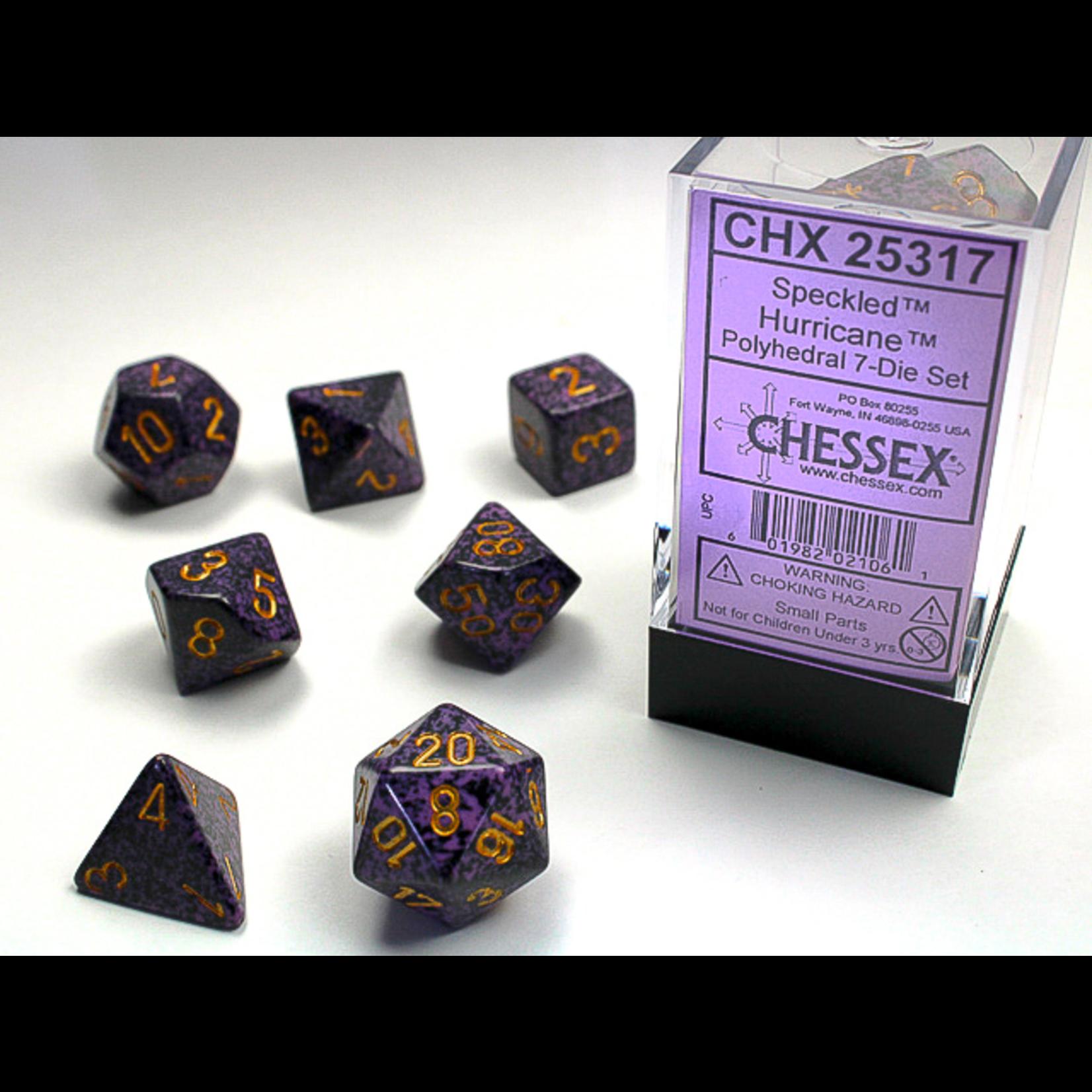 Chessex Dice: 7-Set Cube Speckled Hurricane (CHX)
