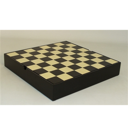"""Worldwise Imports [Pickup Only] Chess Board 12"""" Black/Maple Chest"""