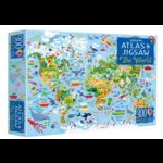 Usborne Atlas & Jigsaw World  - 300 Piece Jigsaw Puzzle