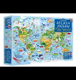 Usborne Atlas & Jigsaw World 300p