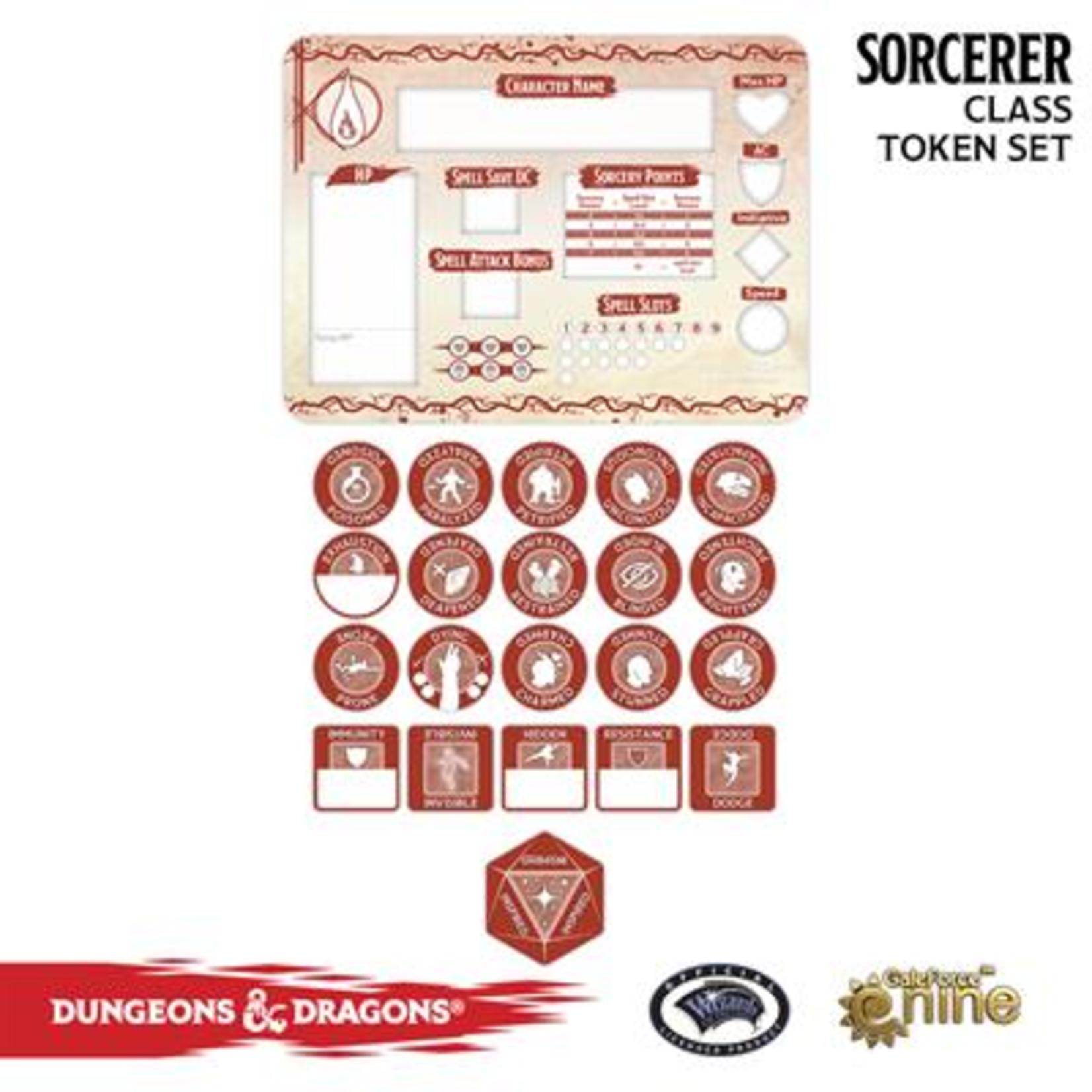 Gale Force Nine Dungeons & Dragons 5th Edition Token Set & Player Board: Sorcerer