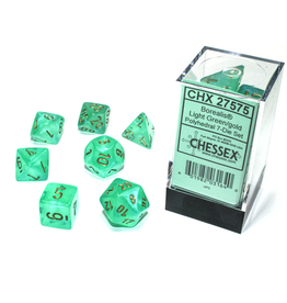 Chessex 7-Set Borealis Luminary Light Green/Gold