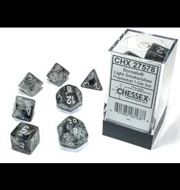 Chessex 7-Set Borealis Luminary Light Smoke/Silver