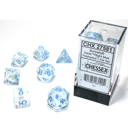 Chessex 7-Set Borealis Luminary Icicle/Light Blue