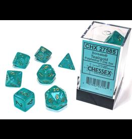 Chessex 7-Set Borealis Luminary Teal/Gold