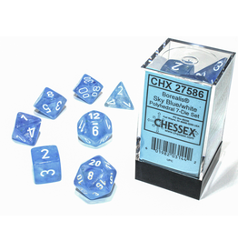 Chessex 7-Set Borealis Luminary Sky Blue/White