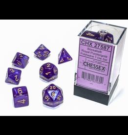 Chessex 7-Set Borealis Luminary Royal Purple/Gold