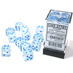 Chessex D6 Cube 16mm Borealis Luminary Icicle/Light Blue