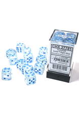 Chessex D6 Cube 16mm Borealis Luminary Icicle with Light Blue Pips (CHX)