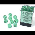 Chessex D6 Cube 12mm Borealis Luminary Light Green/Gold