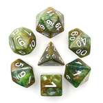 HD Dice 7-Set Marble Green/White