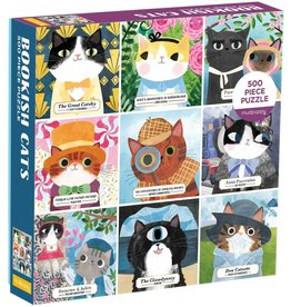 Mudpuppy Bookish Cats  - 500 Piece Jigsaw Puzzle
