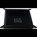 "Metallic Dice Games Velvet Folding Dice Tray 10"" x 10"" Black"