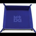 "Metallic Dice Games Velvet Folding Dice Tray 10"" x 10"" Blue"