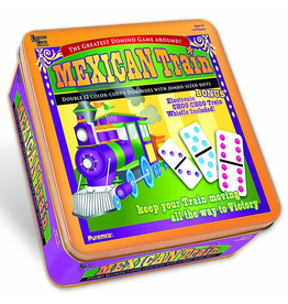 Puremco Mexican Train Dominoes:  Double 12 Color-Coded  with Jumbo-Sized White/Color Dots  (UG)