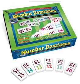 Puremco Double 15 Number Dominoes: Pro Size White/Color Numbers (UG)