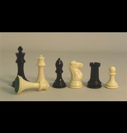 "Worldwise Imports Chess Pieces 4"" TW Black/White Plastic Tournament"