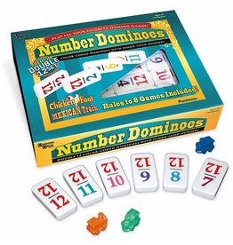 Puremco Color Number, Double 12 Dominoes Professional Size Set (UG)