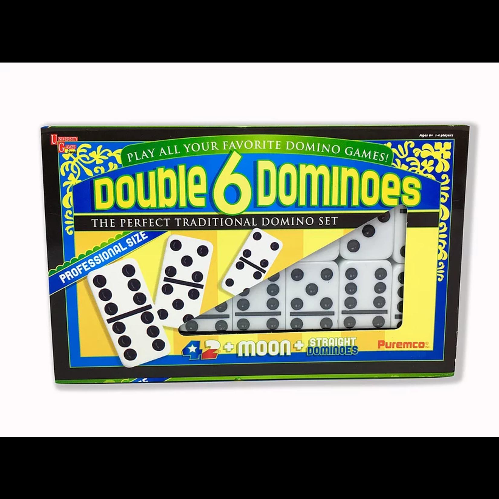 Puremco Double 6 Black Dot Dominoes Set (Double 6, Pro Size, UG)