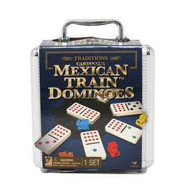 SpinMaster Traditions Mexican Train Dominoes in Aluminum Carry Case
