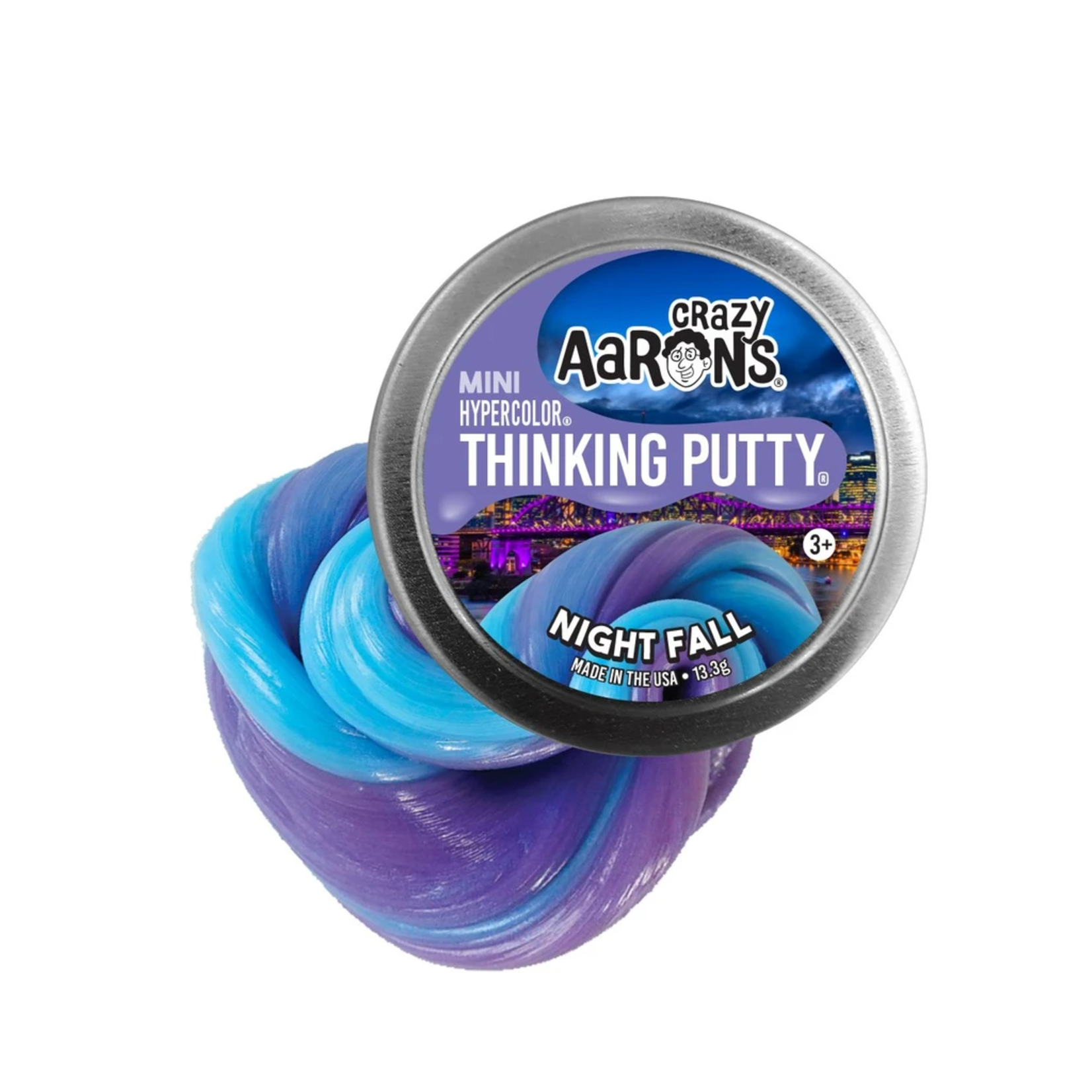 """Crazy Aarons Thinking Putty 2"""" Night Fall"""