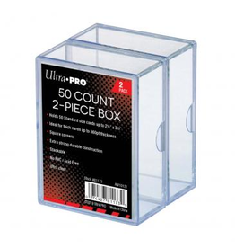 Ultra Pro Clear 50 Card Count Deck Box (2-Pack)