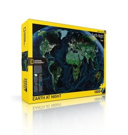 New York Puzzle Company Earth At Night - 1000 Piece Jigsaw Puzzle