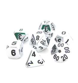 Die Hard Dice 7-Set Dice: Forge Shiny Silver w/ Black