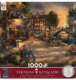 Ceaco Thomas Kinkade Amsterdam Cafe - 1000 Piece Jigsaw Puzzle