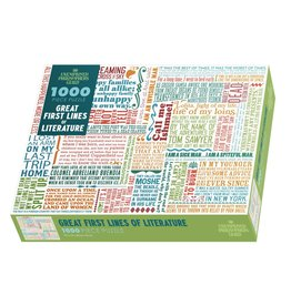 The Unemployed Philosophers Guild First Lines of Literature - 1000 Piece Jigsaw Puzzle
