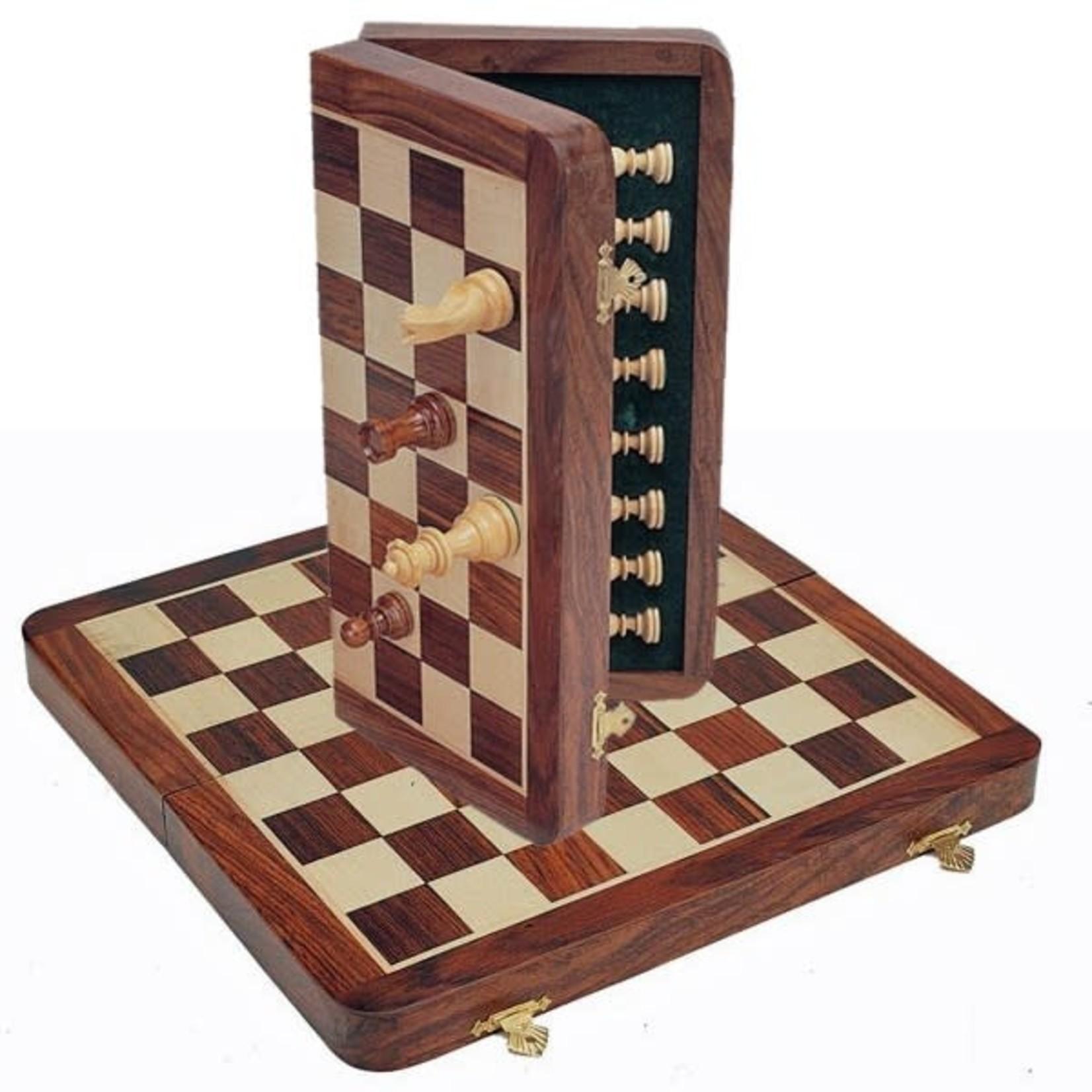 "Chess Set 11.75"" Wood Magnetic Folding"