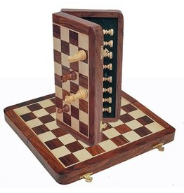 "Chess Set 11.75"" Wood Magnetic Folding"