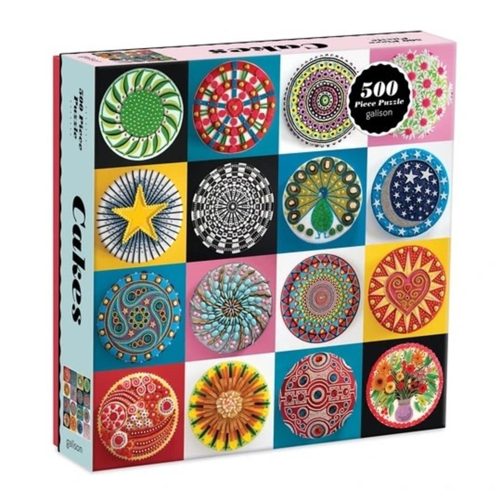 Galison Cakes - 500 Piece Jigsaw Puzzle