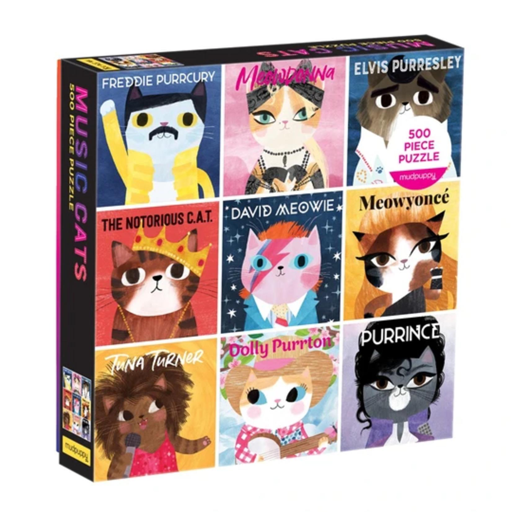 Mudpuppy Music Cats - 500 Piece Jigsaw Puzzle