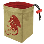 Red King Co Dice Bag Embroidered Fantasy Dragon Red