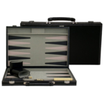 """Wood Expressions [Pickup Only] Backgammon Black Leatherette 15"""""""