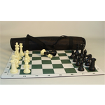 "Worldwise Imports Pro Chess Set (4"" Triple Weighted Chessmen, Mat, and Tote)"