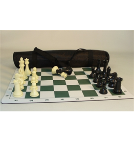 """Worldwise Imports Pro Chess Set (4"""" Triple Weighted Chessmen, Mat, and Tote)"""