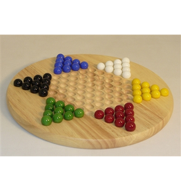 """Worldwise Imports Chinese Checkers 12"""" Wood"""