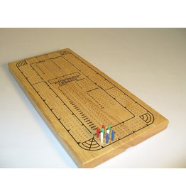 Worldwise Imports Cribbage 4-Track Board Natural Wood with Pieces (WI)